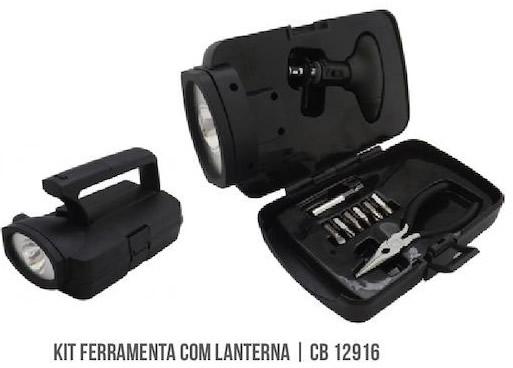 Kit Ferramenta com lanterna CB 12916